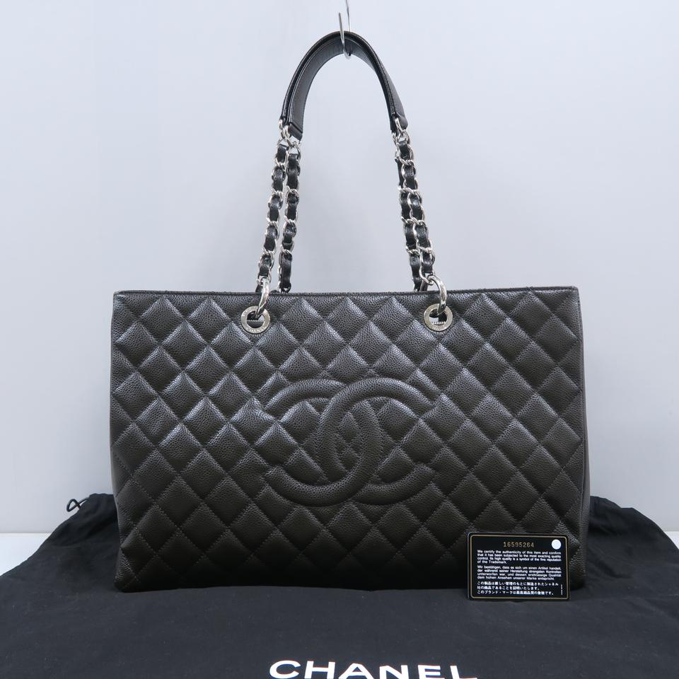 791f9384c794 Chanel Shopping Tote Xl Grand (Gst) Darkbrown Caviar Shoulder Bag - Tradesy