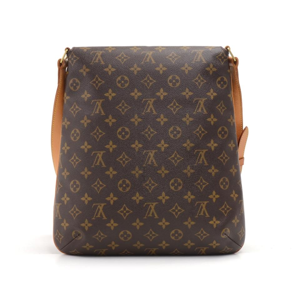 8dfdd6f4c26a Louis Vuitton Musette Large Monogram Brown Coated Canvas Shoulder Bag -  Tradesy