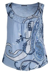 Elie Tahari Cotton Silk Top Blue