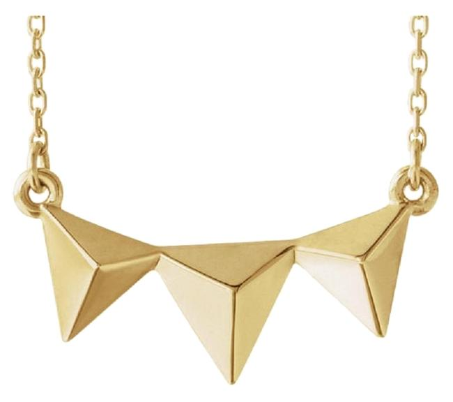 Apples of Gold Triple Pyramid 14k Yellow Necklace Apples of Gold Triple Pyramid 14k Yellow Necklace Image 1