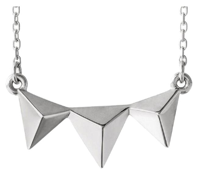 Apples of Gold 14k White Triple Pyramid Necklace Apples of Gold 14k White Triple Pyramid Necklace Image 1
