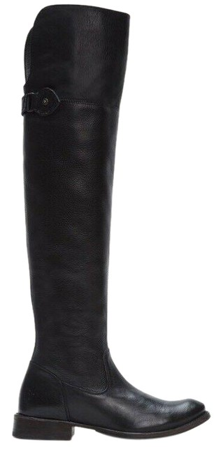 Frye Black Shirley Otk Over The Knee Riding Leather Boots/Booties Size US 6 Regular (M, B) Frye Black Shirley Otk Over The Knee Riding Leather Boots/Booties Size US 6 Regular (M, B) Image 1