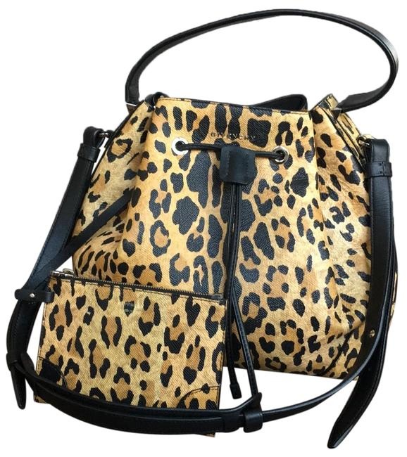 Givenchy Bucket Leopard Print Tote Brown Leather Shoulder Bag Givenchy Bucket Leopard Print Tote Brown Leather Shoulder Bag Image 1