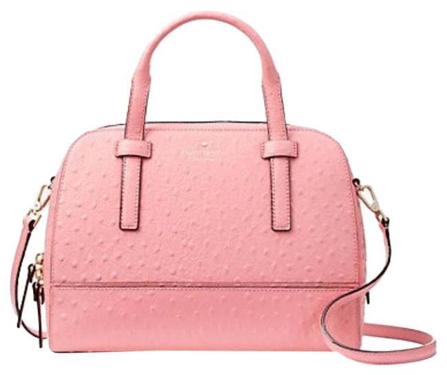 Item - Riverside Street Ostrich Embossed Small Felix Pink Leather Cross Body Bag