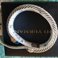 David Yurman David Yurman Cable Classic Crossover Bracelet with Blue Topaz and Diamonds, 7mm Image 3