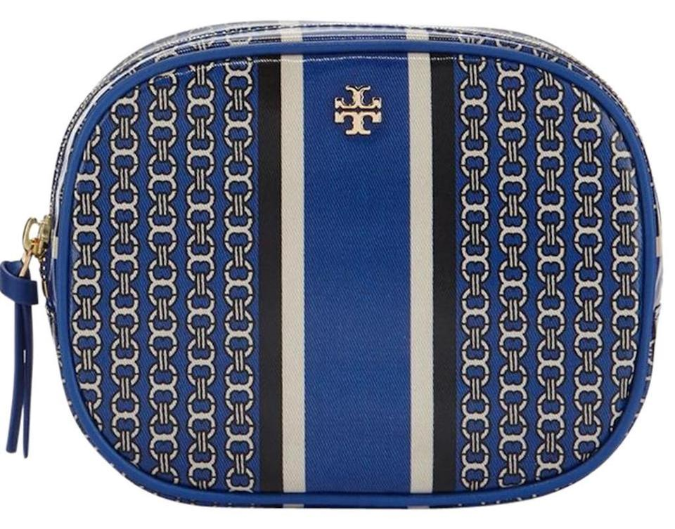 6f8bf546942 Tory Burch NEW TORY BURCH GEMINI LINK MAKE-UP COSMETIC BAG CASE ZIPPER  POUCH Image ...