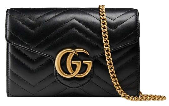 5e8025b82454 Gucci Marmont Sale Bnwt Gg Matelasse Mini Black Leather Shoulder Bag ...