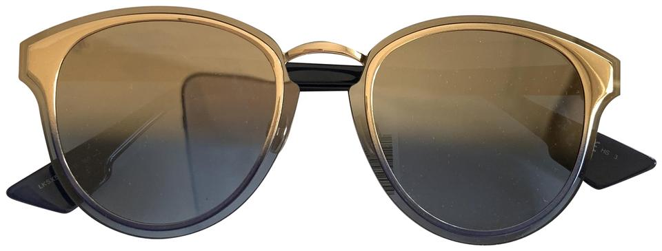 5efd34e25 Dior $595 Dior Nightfall Blue Metallic Rose Gold Gradient Round Sunglasses  Image 0 ...