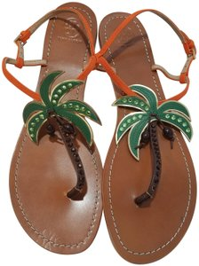 08c2cba3214f Orange Tory Burch Sandals - Up to 90% off at Tradesy