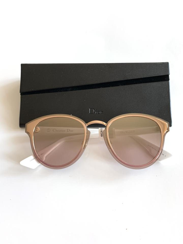 0ee5cc26f11d Dior $595 Dior Nightfall Pink Metallic Rose Gold Gradient Round Sunglasses  Image 6. 1234567