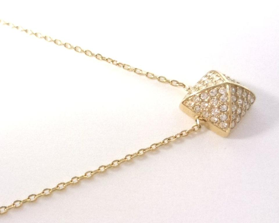 6c75fafed6310 Michael Kors Gold Mkj5247710 Pyramid Pendant Chain New Necklace ...