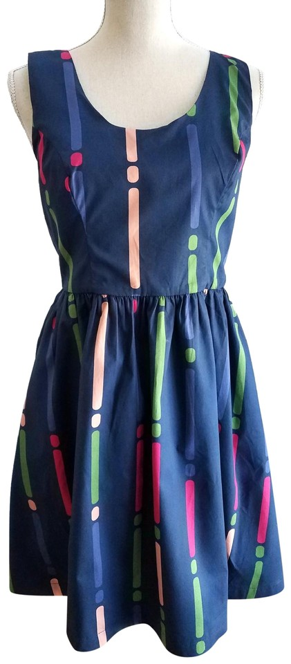 121018a445 Modcloth Multicolor Optimistic Effect Sleeveless Short Casual Dress ...