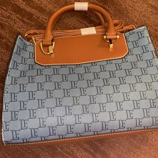 London Fog Satchel in Denim Image 1