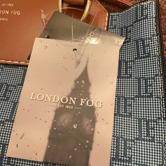 London Fog Satchel in Denim Image 5