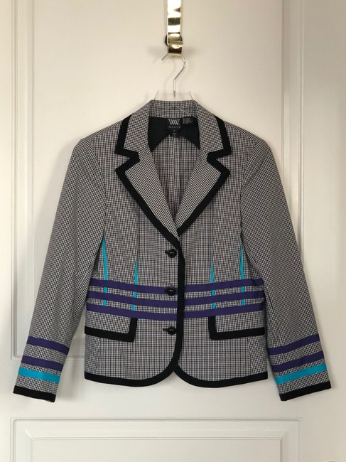 W by Worth Jackets Color Check Multi Blazer Image 1