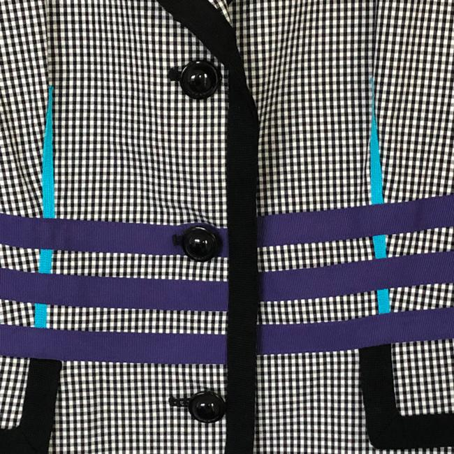 W by Worth Jackets Color Check Multi Blazer Image 4