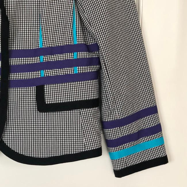 W by Worth Jackets Color Check Multi Blazer Image 5