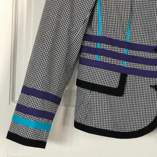 W by Worth Jackets Color Check Multi Blazer Image 6