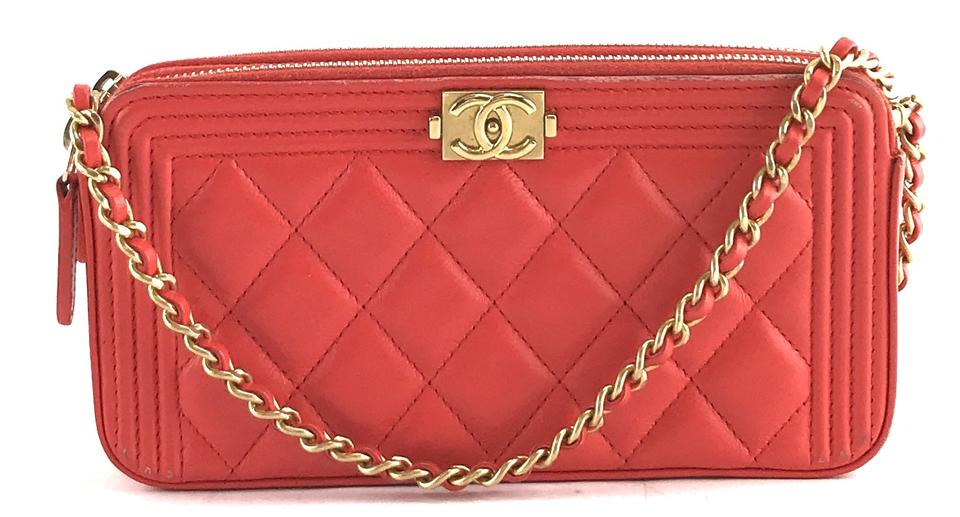 060befe9e69f46 Chanel Wallet on Chain Shoulder Boy #28298 Rare Cc Quilted Woc ...