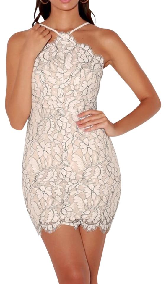 e936b579d6cc Lulu*s Off White Lace with Nude Lining Short Cocktail Dress Size 4 ...