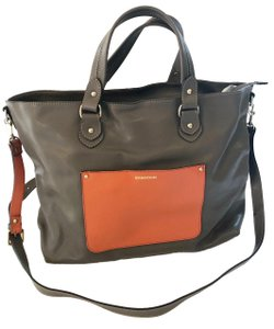 Dimoni Satchel in taupe/orange