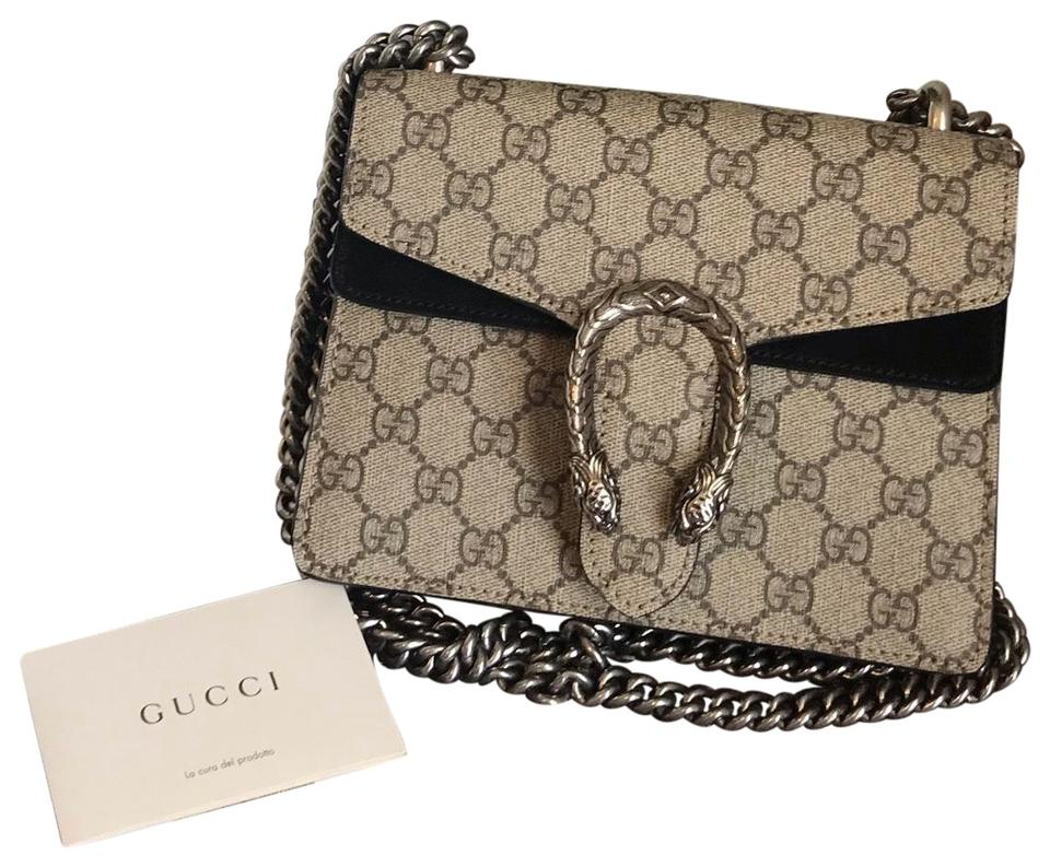 ab1f19a9d Gucci Dionysus Mini Gg Supreme Brown Canvas Messenger Bag - Tradesy