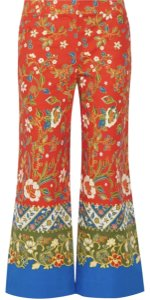 Tory Burch Samba Wide Leg Pants Multi-Color