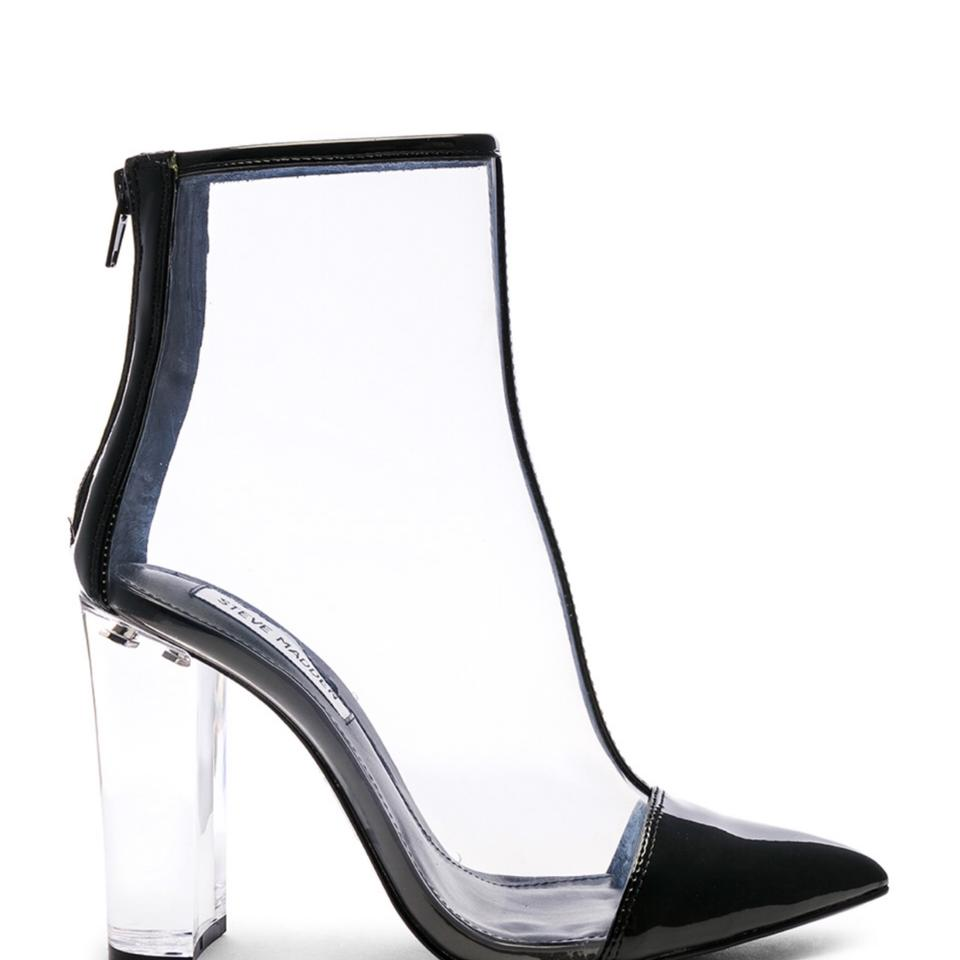 4e4f0b96373 Steve Madden Black and Clear Clancy Boots/Booties Size US 9.5 Regular (M,  B) 62% off retail
