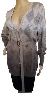 Burberry Ombre Belted Longsleeve House Check Nova Check Cardigan