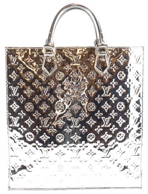 Item - Sac Plat #28272 Miroir Mirror Hand Large Tall Laptop Briefcase Silver Pvc Monogram Rare Limited Edition Patent Leather Tote