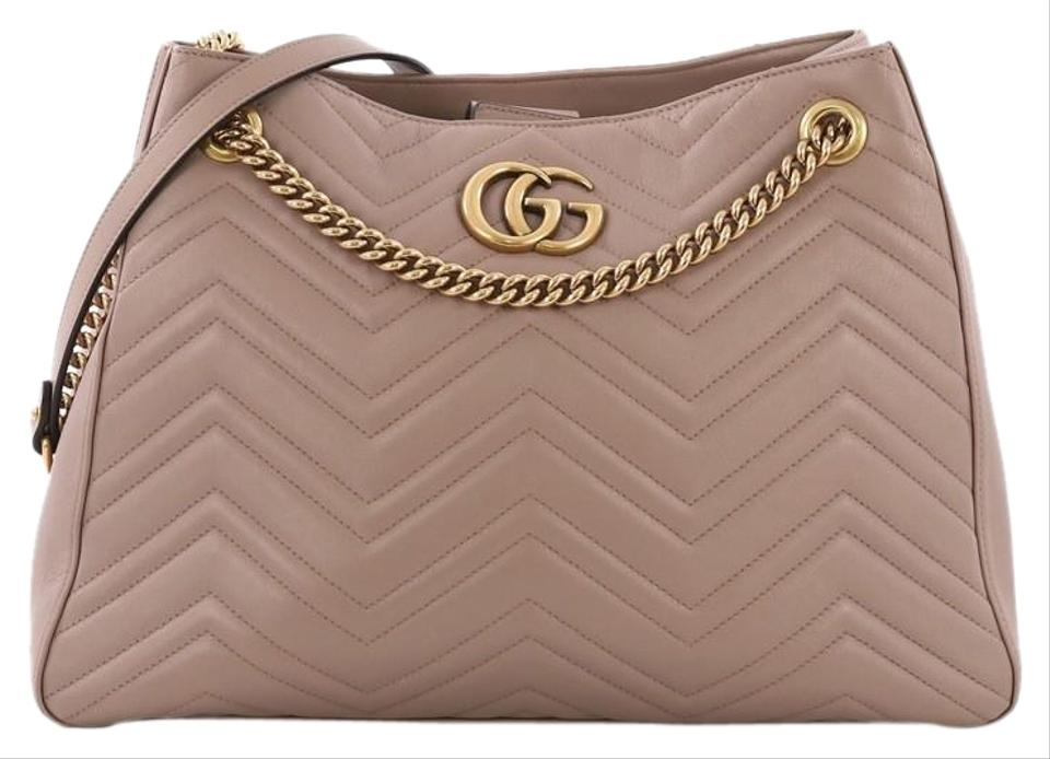 03892f11178 Gucci Marmont Gg Chain Matelasse Mauve Leather Shoulder Bag - Tradesy