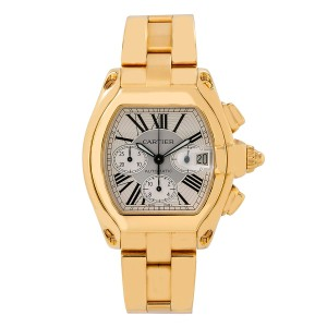 Cartier CARTIER ROADSTER W62021Y2 47MM CHRONOGRAPH WHITE DIAL WITH YELLOW GOLD