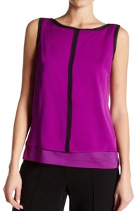 MILLY Top Purple & Black
