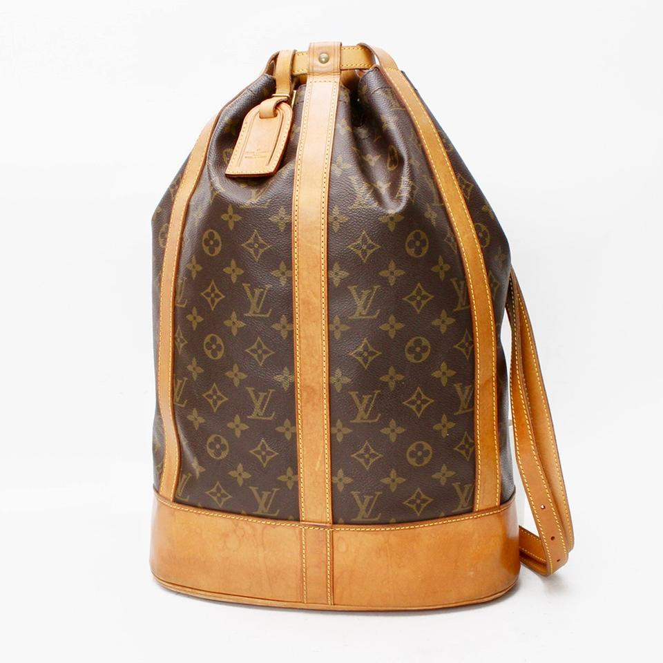 7ae85ec1dc6d Louis Vuitton Randonnee Pochette Lv Gm Monogram with Removable Brown Canvas  Backpack - Tradesy