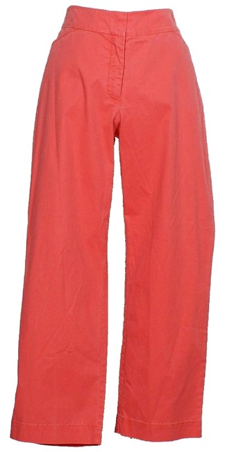 Item - Strawberry Red Washed Cotton Tencel Twill Pants Size 12 (L, 32, 33)