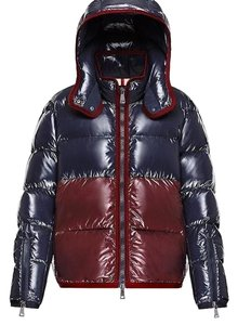 837049e59d3 Moncler Black Yellow Drake Colorblock Down Jacket Coat Size 8 (M ...