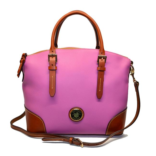 Item - Belvedere Domed Orchid Leather Satchel