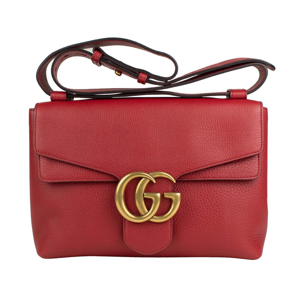 new design attractivefashion available Gucci GG Marmont Borsa Red Leather Shoulder Bag