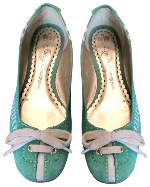 Item - Green 234567 Flats Size US 8.5 Regular (M, B)
