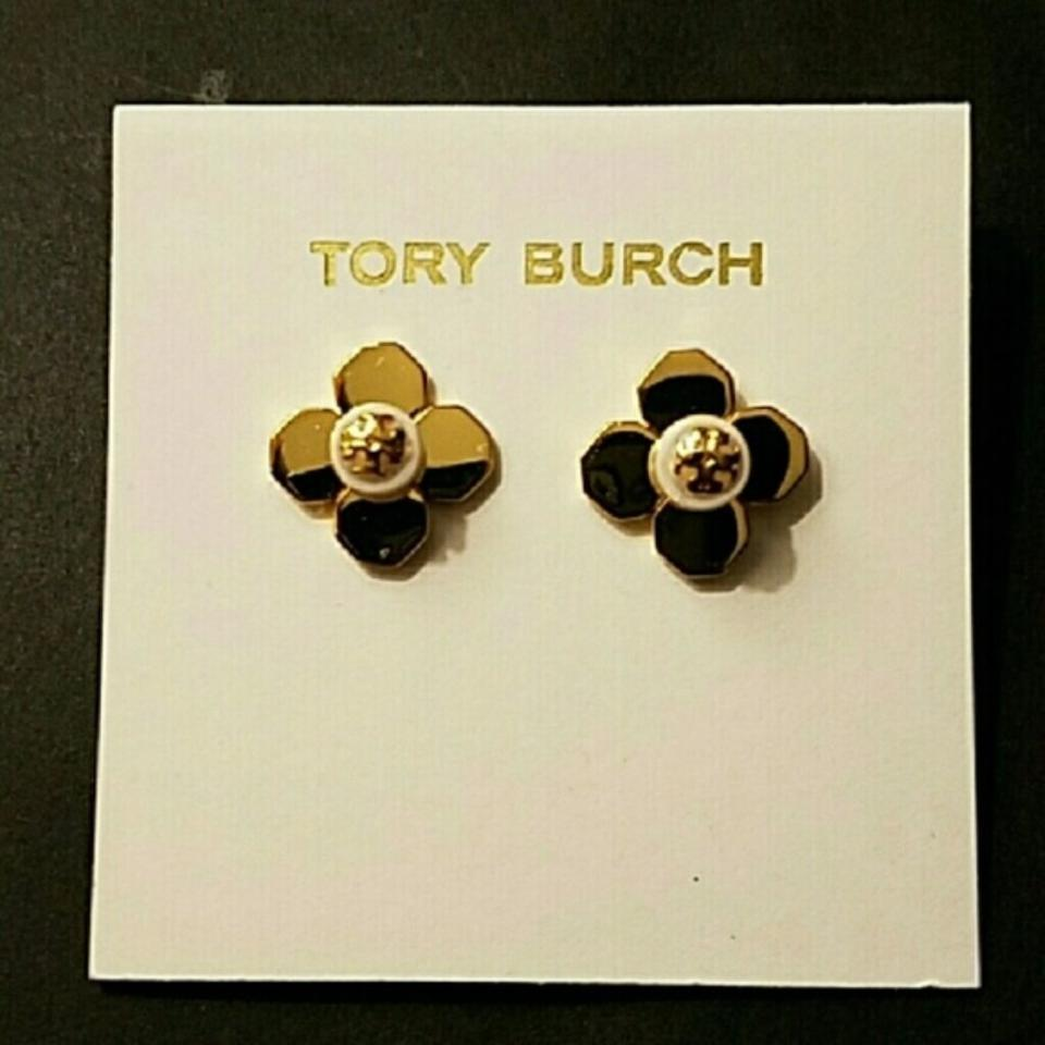 f312f81cb Tory Burch Tory Burch GOLD BABYLON PEARL FLORAL FLOWER STUD EARRINGS Image  3. 1234