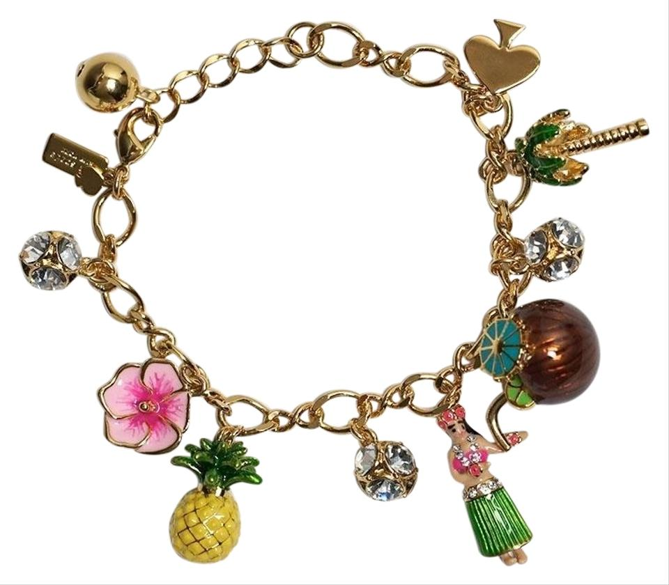 Kate Spade Gold New Hawaii Exclusive How Charming Charm Bracelet 48 Off Retail