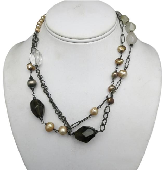 Item - Pearl Pink Long Sterling Necklace