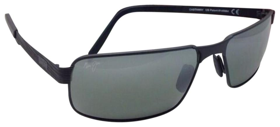 ba4ed98c362 Maui Jim New MAUI JIM Polarized Sunglasses CASTAWAY MJ 187-02M Matte Black  Image 0 ...