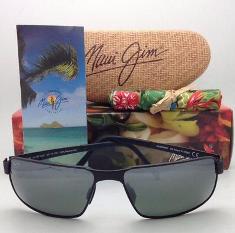 967b43fe8a9 ... MAUI JIM Polarized Sunglasses CASTAWAY MJ 187-02M Matte Black Image 9.  12345678910