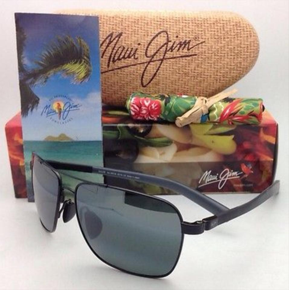 0573b574ffc Maui Jim MAUI JIM Polarized Sunglasses FREIGHT TRAIN MJ 326-02 Gunmetal  Aviator. 123456789101112
