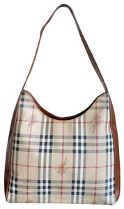 Burberry London Haymarket Check Leather Shoulder Bag