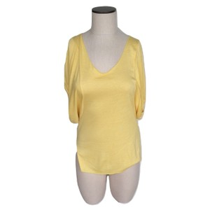 Chaser Scoop Neck Batwing Sleeve Elastic T Shirt Yellow