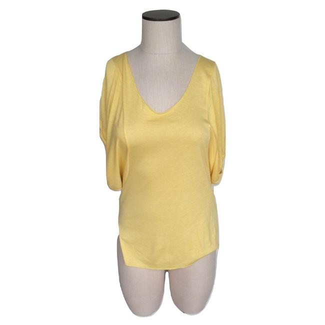 Preload https://img-static.tradesy.com/item/25027110/chaser-yellow-batwing-sleeve-scoop-neck-tee-shirt-size-8-m-0-0-650-650.jpg
