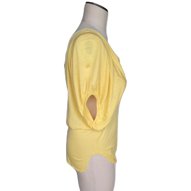 Chaser Scoop Neck Batwing Sleeve Elastic T Shirt Yellow Image 1