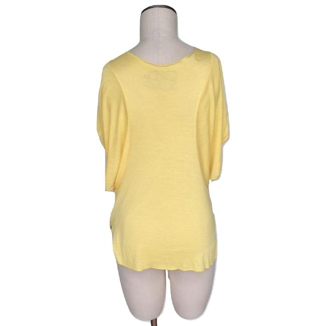 Chaser Scoop Neck Batwing Sleeve Elastic T Shirt Yellow Image 2